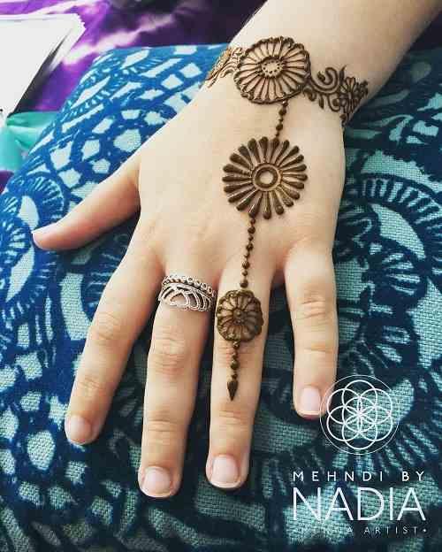 One Line Finger Mehndi Design