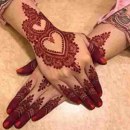 Stylish Love symbol On Back Hand