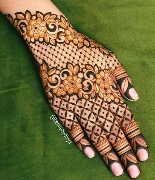 floral motifs with Jalli Designs
