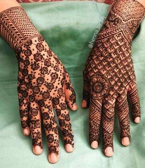 mesh-like pattern Mehndi
